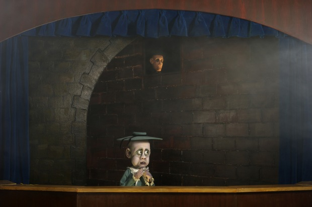 Pictured, The Beast of Muggditch Lane by August Stainbrook: Act 1, Scene 1. Image supplied by Theatre Junction GRAND.