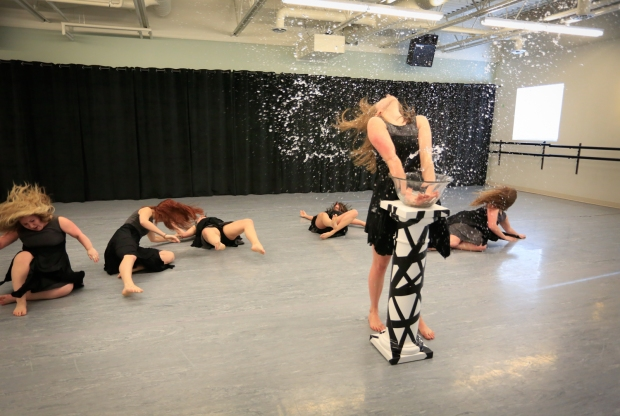 "Corps Bara Dance Theatre rehearsing ""Cleansing,"" one of six dance pieces in Absence. Photo Credit: Char G. Photography"