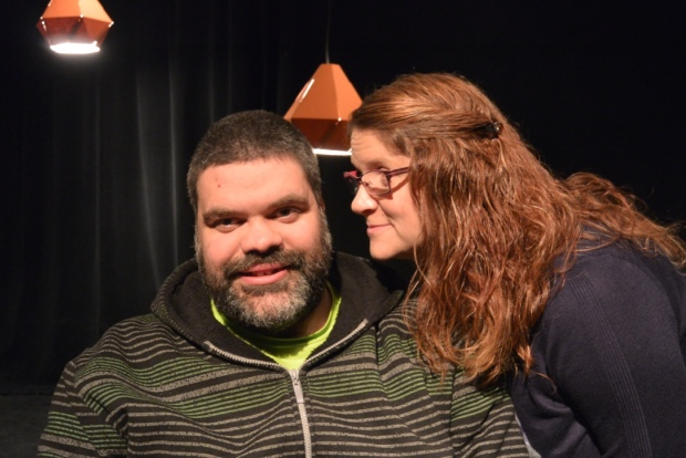 Mike Keir and Karen Johnson-Diamon. Imaged supplied by Verb Theatre.