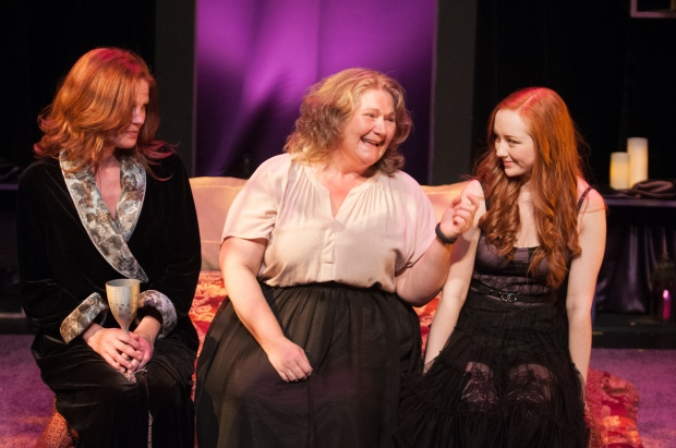 The Shakespeare Company's season opener Romeo & Juliet ran Oct 1 - 17 at Vertigo Theatre's Studio. Pictured: Lady Capulet (Chantal Perron), Nurse (Elizabeth Stepkowski Tarhan), and Juliet (Allison Lynch). Photo Credit: Ben Laird Photography.