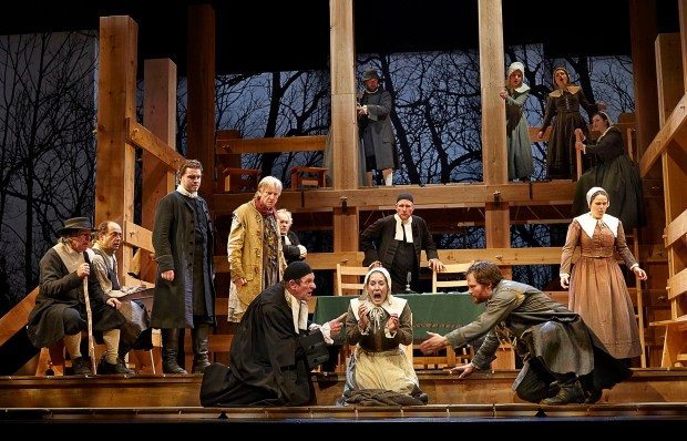 The cast of The Crucible. Photo Credit: Trudie Lee.