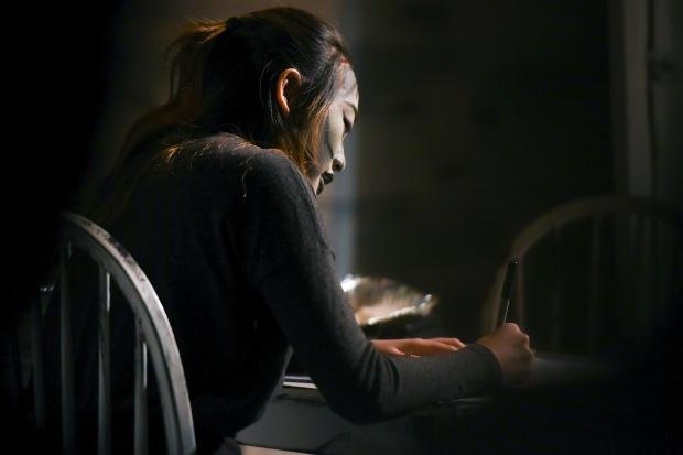 Desdemona (Conni Mah) has her eyes on Princeton in Lauren Yee's Ching Chong Chinaman. Photo Credit: Lillie Cameron
