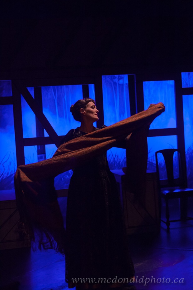 Elinor Holt plays Anne Hathaway in Thiessen's one-woman drama Shakespeare's Will. Photo credit: McDonald Photography.