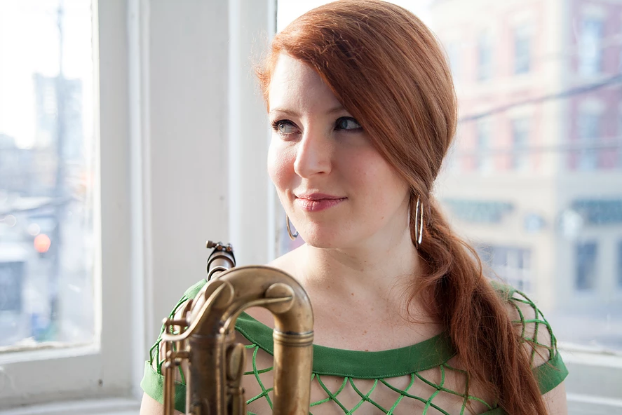 Alison Young, saxophonist.