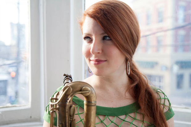 Alison Young, saxophonist.